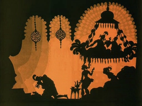 A still from the Adventures of Prince Achmed.