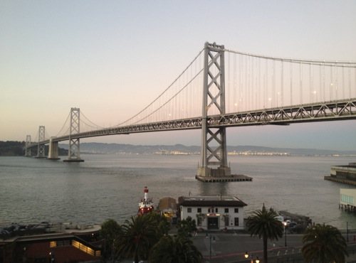 view from AdaCamp reception at Google SF
