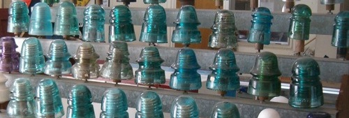 A person's collection of insulators