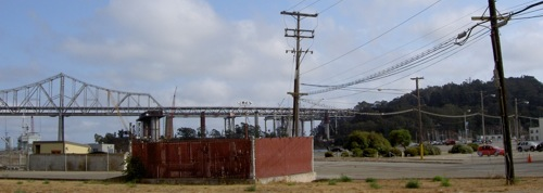 Utility poles on Treasure Island