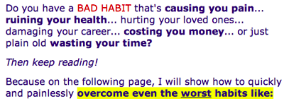 Do you have a BAD HABIT