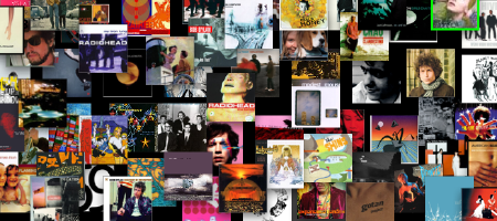 a mosaic-ish rendering of most of my albums (pirated and otherwise)