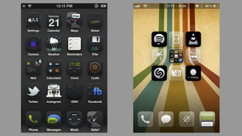 Examples of iPhone themes