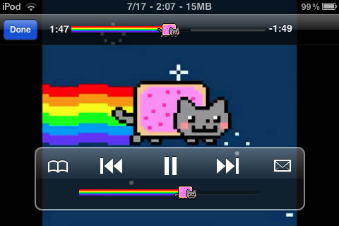 a screenshot of nyan cat sliders